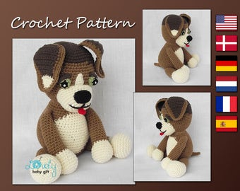 Amigurumi Pattern Crochet, Puppy Crochet Pattern, Amigurumi Dog, Animal Pattern Crochet, CP-138