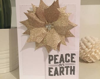 Peace on earth, peace card, Peace on Earth card, greetings card, A prayer for, doves, holiday card, Christmas card, inspirational card
