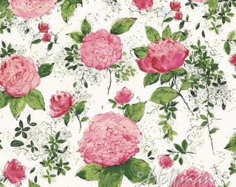 Hoffman Fabric Painted Petals