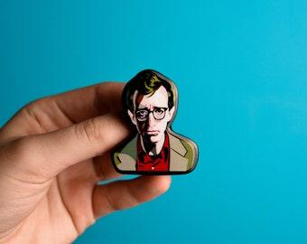 Woody Allen pin brooch