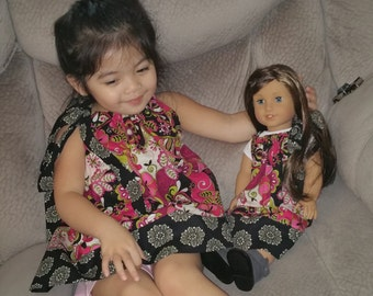 Matching Girl and American Girl Doll Pillowcase Dress