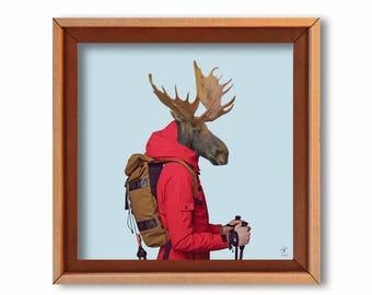 "Art print ""M. Snow"" Cardboard art print-Eco friendly"