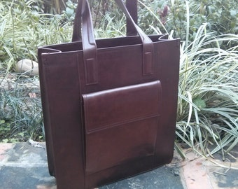 Leather Tote Bag, Custom Leather Bag, Custom Made Bags, Large Tote Bag, Custom Made Bags by Barismil.