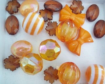 20CT. Fall Bead Collection, 14mm beads and larger, ( Q11)