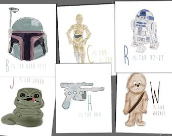 Star Wars Alphabet Prints