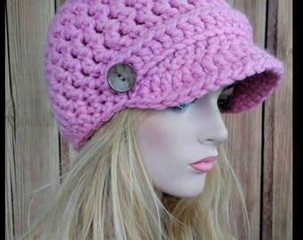 Crochet Hat Pattern, Newsboy Hat Pattern, Bayshore Chunky Newsboy Hat, Crochet Newsboy Hat, Chunky Newsboy Hat, Newsboy Hat, Crochet Hat