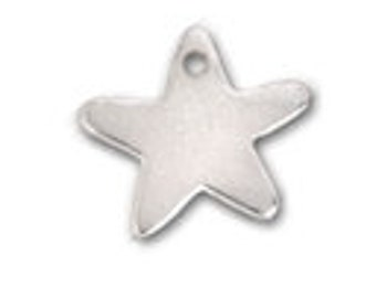 Sterling Silver Star Charm - Add to any jewelry project - Personalize - Add to Necklace, Bracelet, Earrings