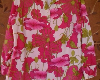 SALE!! 70s flower power blouse by Lady Pykettes