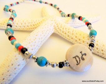 Water Protector Seed Bead Cherokee Language Choker Necklace