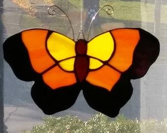 Stained Glass Butterfly, Sun Catcher, suncatcher, garden, window, stained glass, butterfly, home decor