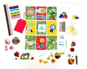 Farm Themed Pocket Letter Starter Kit