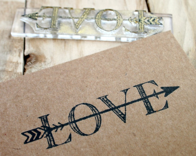 Arrow Love Rubber Stamp - Love Arrow Stamp - Arrow Stamp - Love Stamp - Love - Clear Stamp - Rubber Stamp - Clear Sticky Stamp - Little Shop