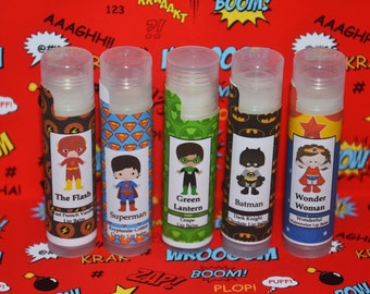The Flash Chapstick, Flash Birthday Party Favors, Flash Party Decor, Flash Gift, Superhero Flash Party, DC Comics Flash Birthday Party Gifts