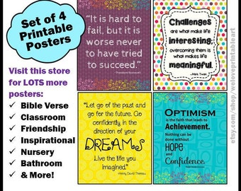 Encouraging Classroom Quotes for Students, Printable Educational Posters, Printable Teacher Posters, Printable Classroom Signs for Education