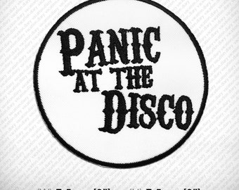 Panic at the Disco Embroidered Patch Iron on or Sew. D.I.Y Decorate Clothes Vest Jacket Coat Hat Gap T Shirt , Funny Hobby Happy , Dance