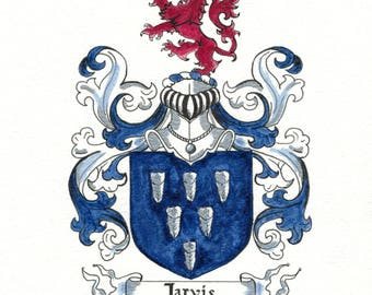 COAT OF ARMS. Family Seal, Family Crest, Custom 8x10 Coat of Arms.