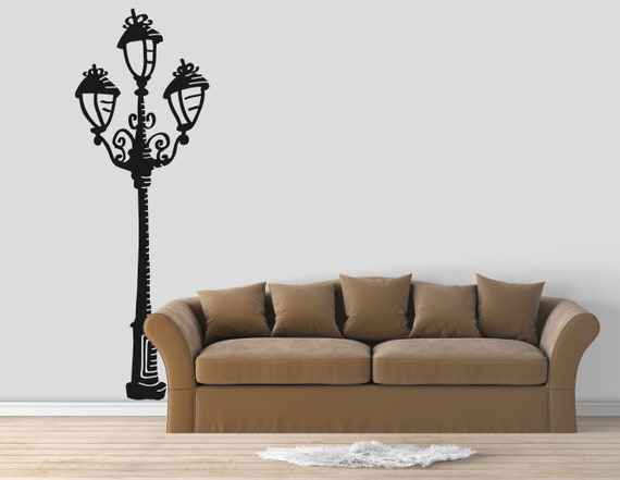 Street Lamp Vinyl Decal for walls or windows - Sticker collection for wall decor and home improvement, Old fashioned lights, Iron Lamp Post