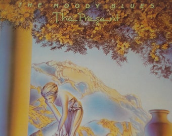 The Moody Blues vinyl record album, Moody Blues The Present vintage vinyl record