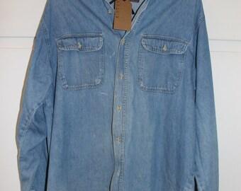 Vintage Stonewashed Jeanshemd | Große