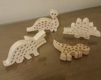 Wooden Dinosaur Crayon Holder (FREE SHIPPING)
