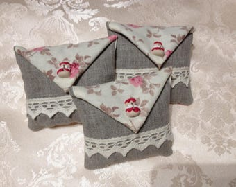 3 bags of lavender linen and cotton model religieuses Strawberry