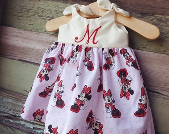 Minnie Mouse dress, Disney Dress, Disney inspired outfit, baby dress, Minnie Mouse Birthday outfit, coming home outfit