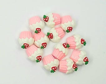 Cupcake kawaii, decoden cabochon Assorted Mix Decoden Scrapbook Flatback Acrylic DIY 10 20 pc