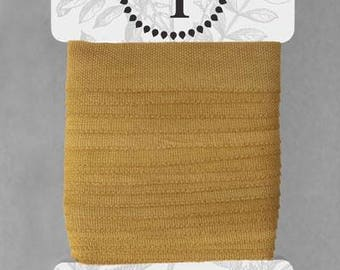 Naturally Dyed 15mm Ribbon-Ochre