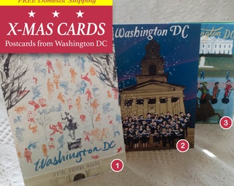 Washington DC X-MAS Cards - Postcards from Washington DC - Greetings cards, Holidays greetings, Christmas cards, blank cards, Designer cards
