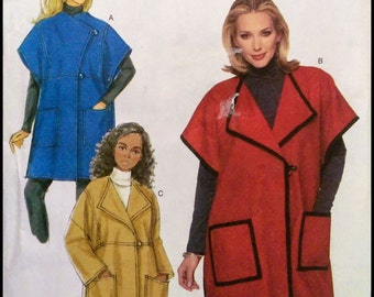 Butterick B5686  Misses' Cape And Jacket  Size (Xsm-Sml-Med.)  UNCUT