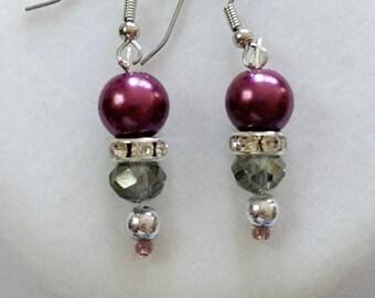 Delicate Purple Delight Earrings