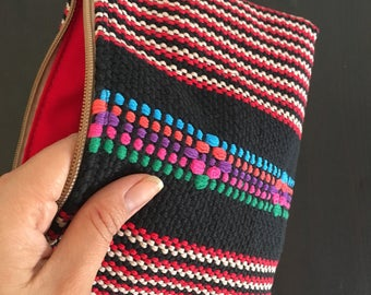 Embroidered loom cosmetic case