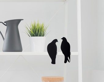 Lovebirds // Dove Statuettes // Metal Designed Art // Unique Gift // Black // Decorative Silhouette by ArtoriDesign