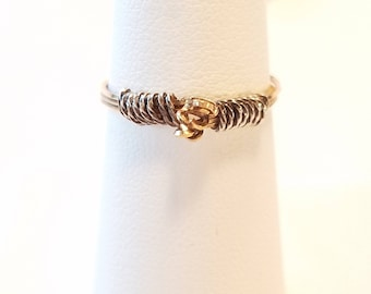 Gold and Silver Wire Ring