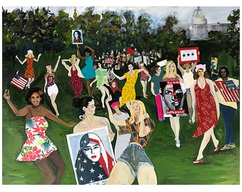 Woman's March/ Me too movement Figure painting-contemporary figure painting. Woman's movement painting. Feminism