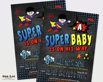 Superhero Invitation Baby Shower Invites Superhero Cape Invite for that Superhero Party Super Hero Printable Invitation Chalkboard Invite