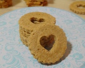 Freshly Baled Linzer Heart Dog Treats. Heart Dog Cookies. Dog Lovers Dog Treats. Puppy Love Biscuits. Thanksgiving / Christmas Dog Gift