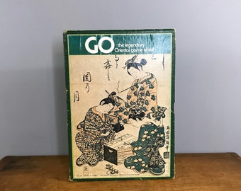 Vintage GO Japanese Gameboard and Instruction Booklet 1973