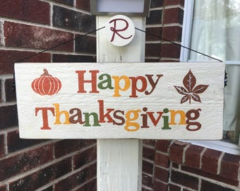 Front porch welcome sign, decoration - 2 sided Thanksgiving & Christmas