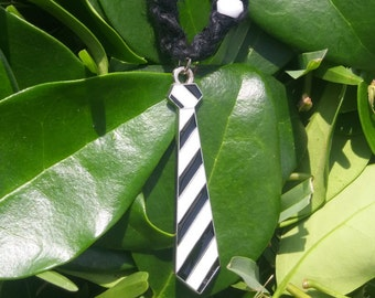 Black and White Tie Necklace