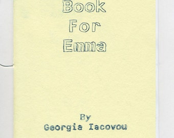 Book For Emma - a book of observations made by a fictional Oscar Wilde