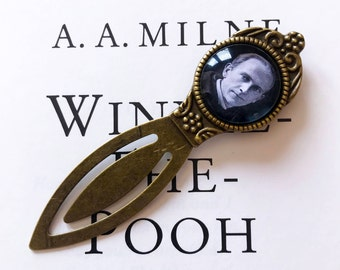 A.A. Milne Bookmark - Winnie The Pooh Bookmark, AA Milne Gift, Pooh Gift, Goodbye Christopher Robin Bookmark, Alan Alexander Milne Bookmark