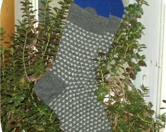 MADE TO ORDER -- Handknitted Men's Superwash Merino/Nylon Patterned Socks