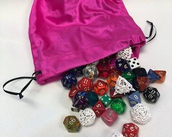 Pink Spandex XL Dice Bag