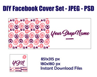 Facebook timeline cover page Facebook cover design Facebook header Digital banner set Facebook cover template Facebook banner template PSD