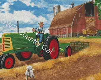 New Oliver Tractor Laminated Place Mats Set of 4  11 x 17 Using graphics from old Oliver Company Advertising