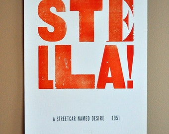 A Streetcar Named Desire, Letterpress Poster