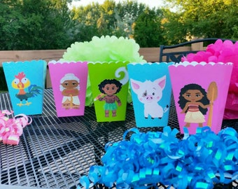 10 Moana Inspired Snack/Favor Boxes