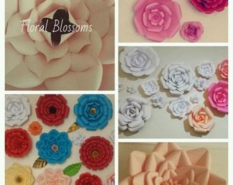 "Paper Flower, Custom made orders, up to 18"" diameter"