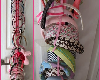 Hanging Headband Organizer with Elastic - 342 color combinations
